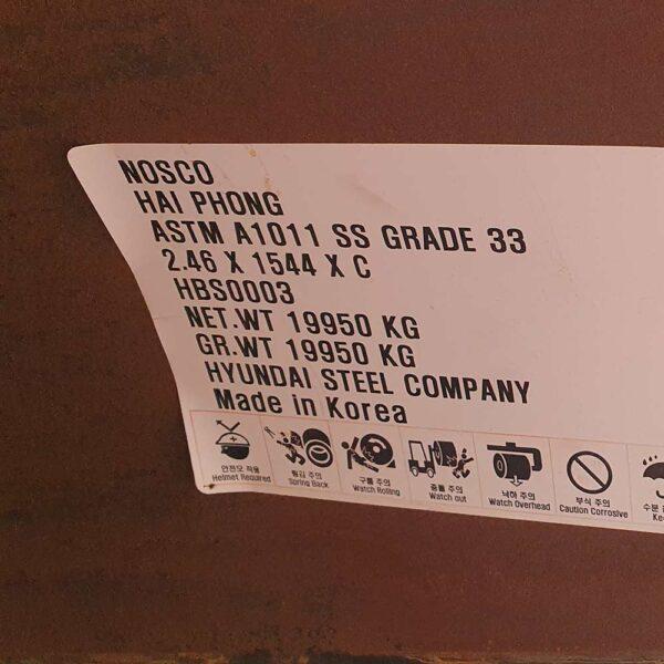 Thép cuộn loại 2 Thép Miền Bắc NOSCO hot rolled coil grade 2